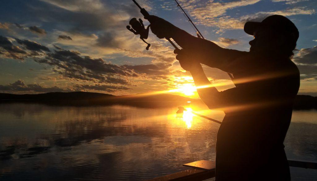 Miekojärvi antaa kalastuksen lisäksi unohtumattomia kuvia.
