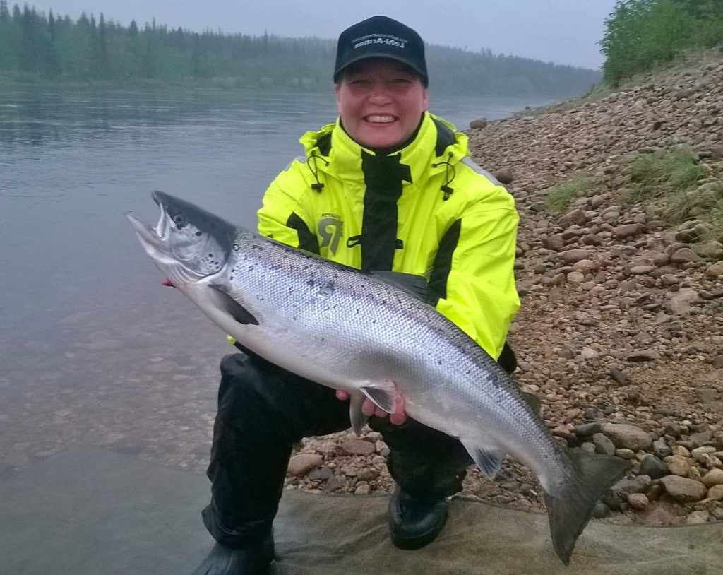 We using TTS-wobblers and Tiura wobbler for fish salmon. Fishing in Finland is the experience.