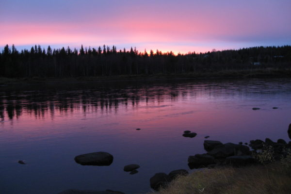The sunset in Lapland.